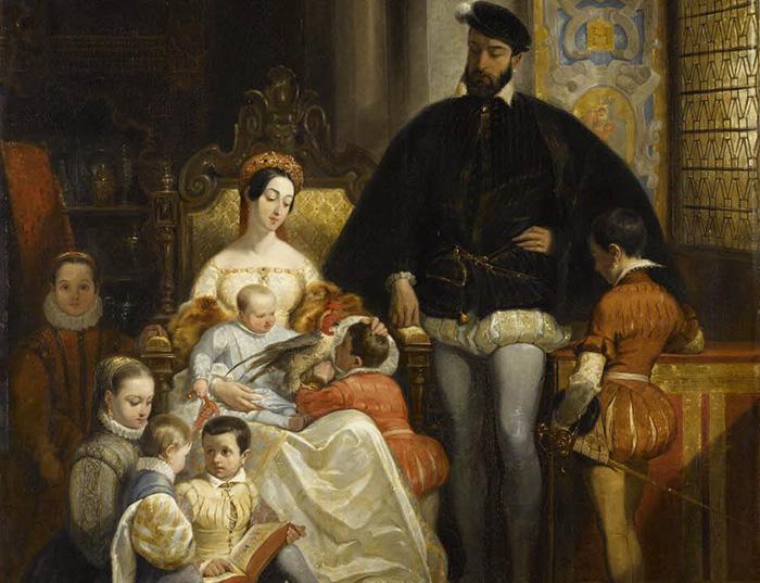 Генрих II с семьей