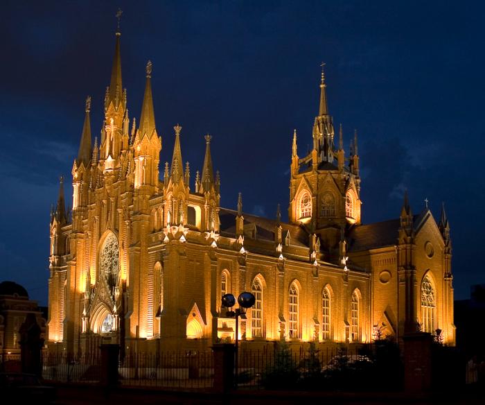 Католический собор на грузинской улице в Москве./Фото: idemgulyat.ru