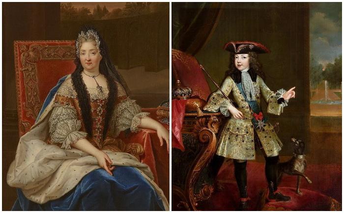 Портреты мадам де Вантадур и Людовика XV